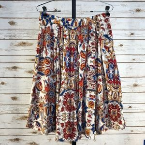 Lularoe Flower Print Madison Skirt XL (W14547)